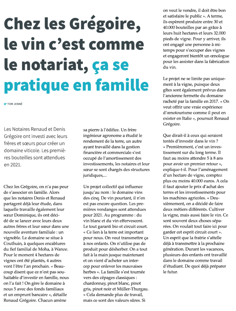 Article revue Notariale 2020